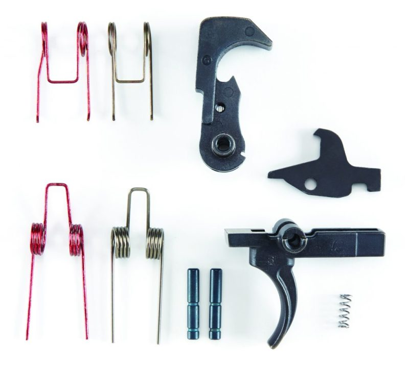 The $99.95 Blackhawk Blaze trigger kit includes trigger components and two sets of trigger and hammer springs for six and 4.7-pound pull weights.