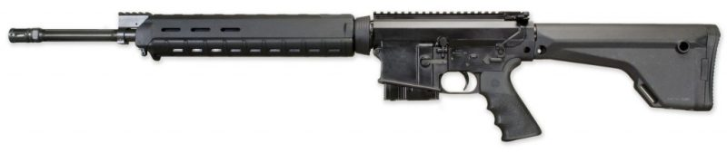 This rifle is an optics ready flat top configuration.