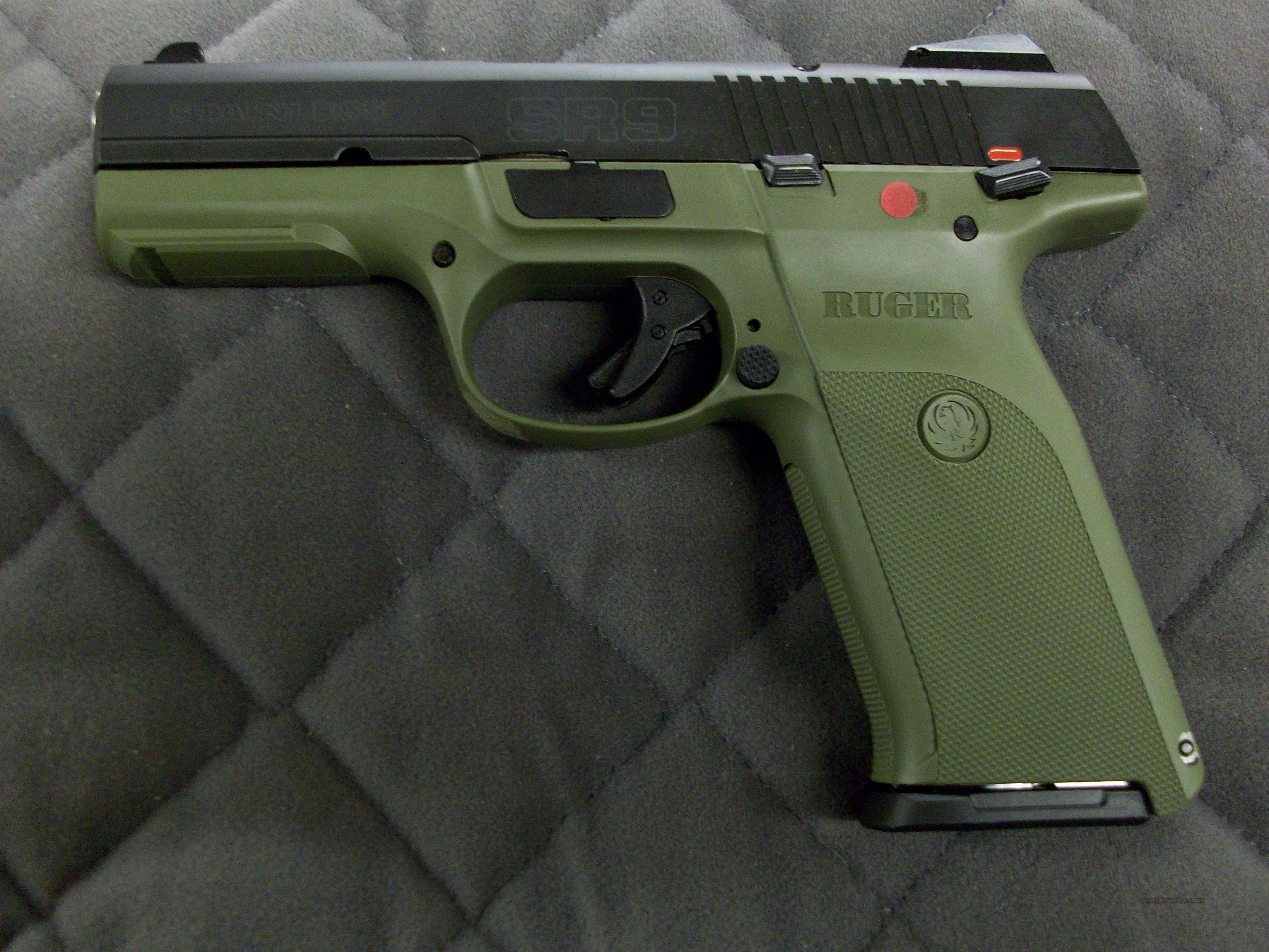 Ruger Sr9 9 Mm Od Green New For Sale