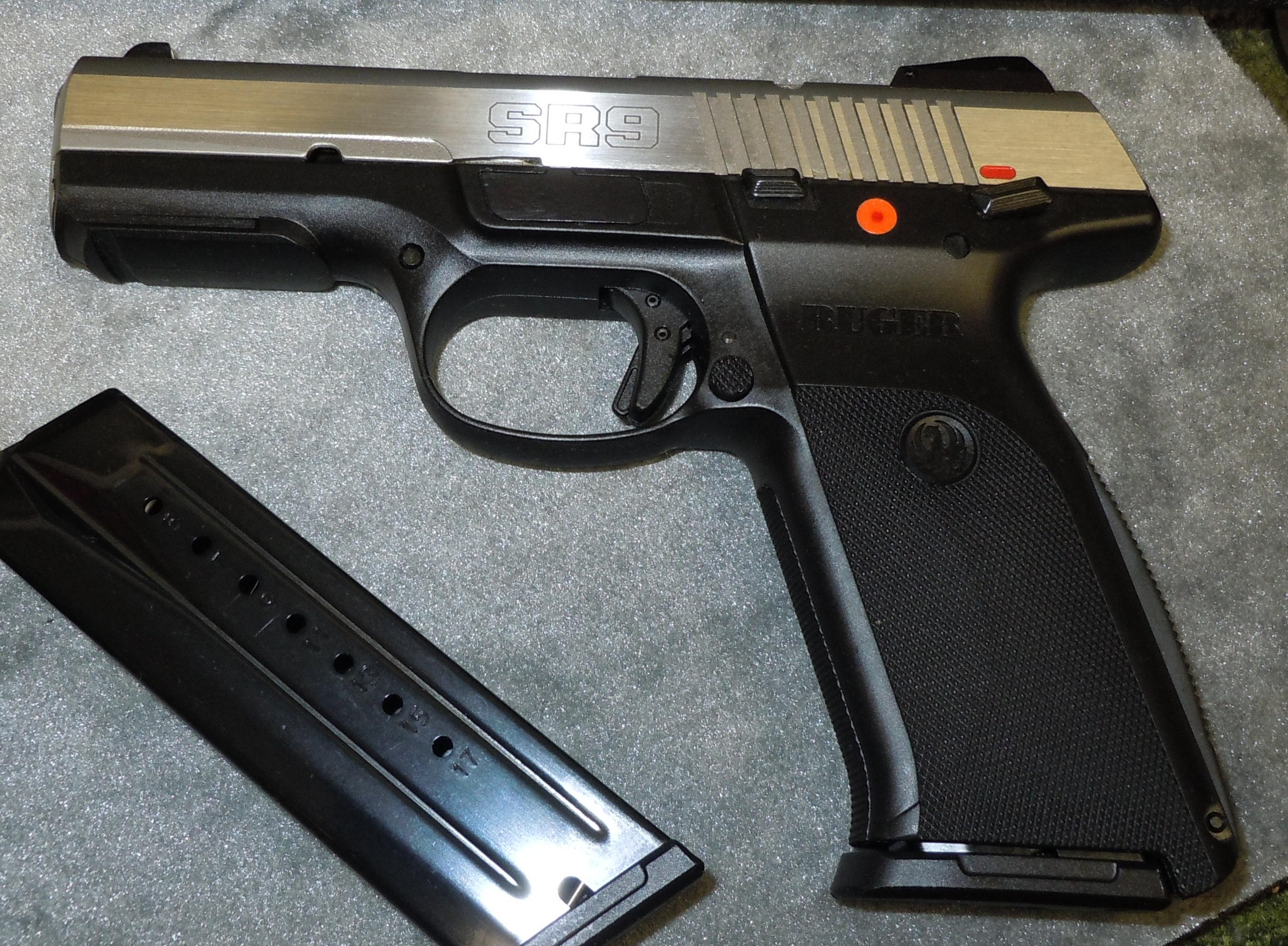 Ruger Sr9 9mm Pistol Full Size Stainle For Sale