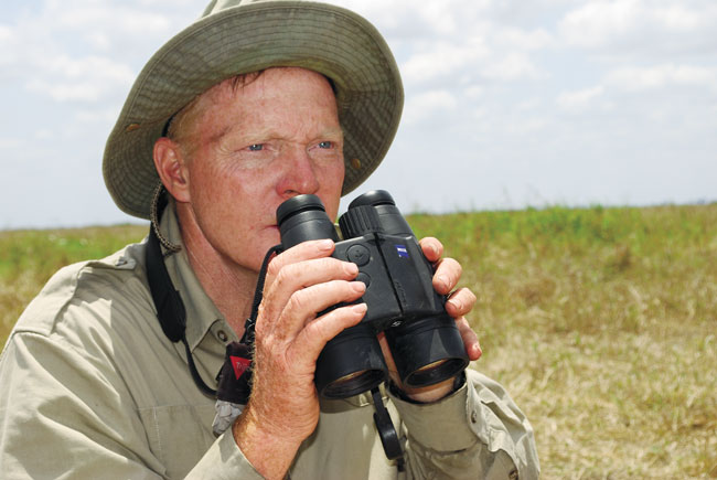 The author has used Zeiss' Victory RF 10x45 laser rangefinder/binocular a great deal. It's heavier and bulkier than a stand-­alone binocular, but having both capabilities in the same tool is an advantage, especially if you're hunting alone.