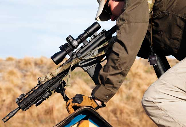 Having a good bipod that can be quickly moved closer to the rear of the gun comes in handy. This is especially true when shooting from nonstandard platforms.
