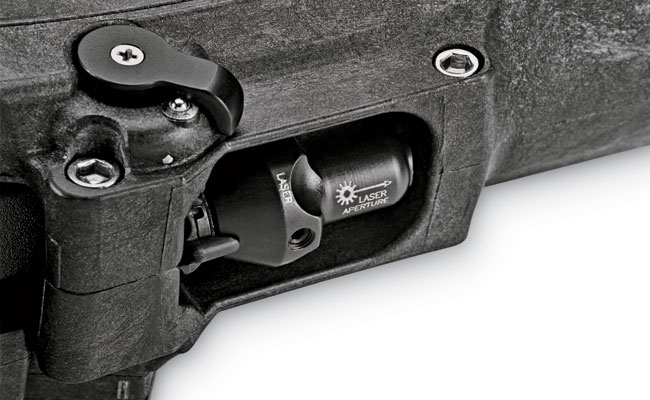 A cut-out underneath the holster offers access to the rotary switch of the X400UH light/laser, even when the gun is holstered.