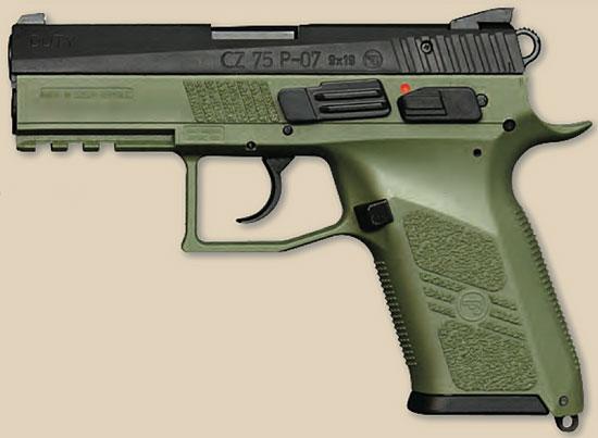 CZ P-07 Duty OD Green Frame