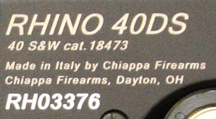 Chiappa Rhino .40 S&W