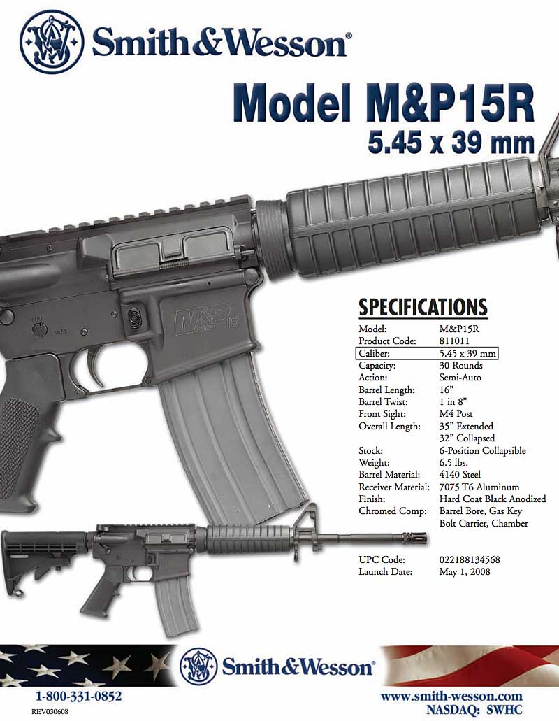 Smith and Wesson M&P15R info