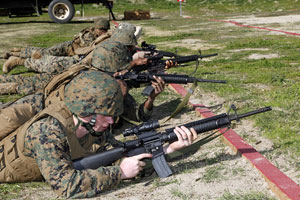 Marines Firearms Training