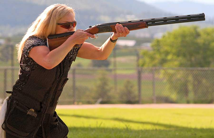 lady shotgun skeet