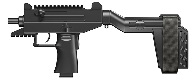 new UZI Pro pistol with arm brace