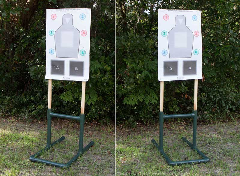 finished PVC target stand
