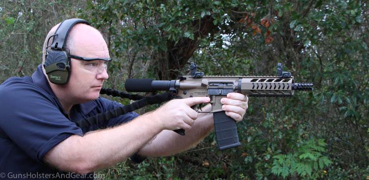 shooting the DB15 pistol
