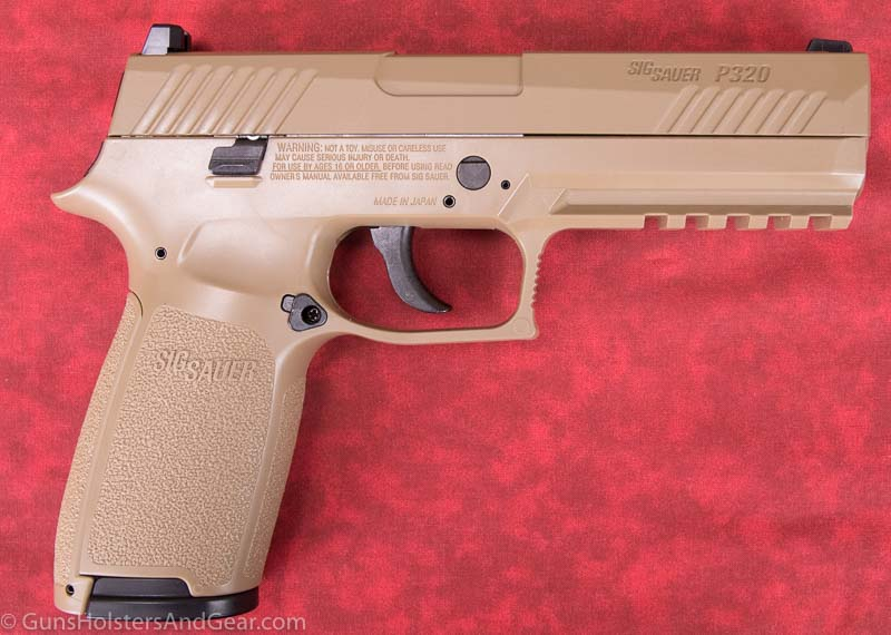 SIG P320 air gun for training