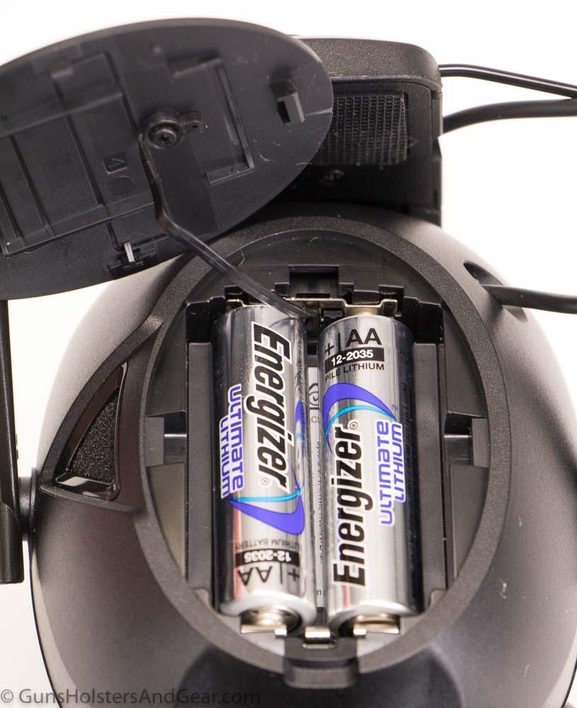 Peltor Sport Tactical 500 battery power