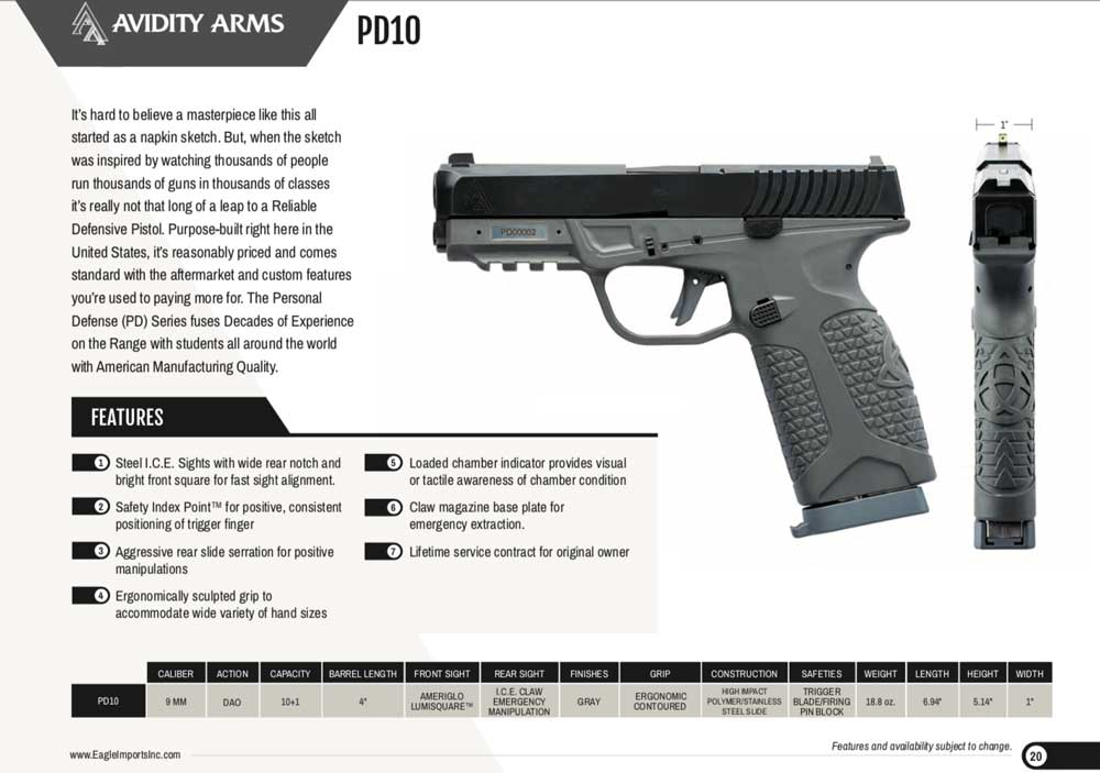 Avidity Arms PD10 now shipping