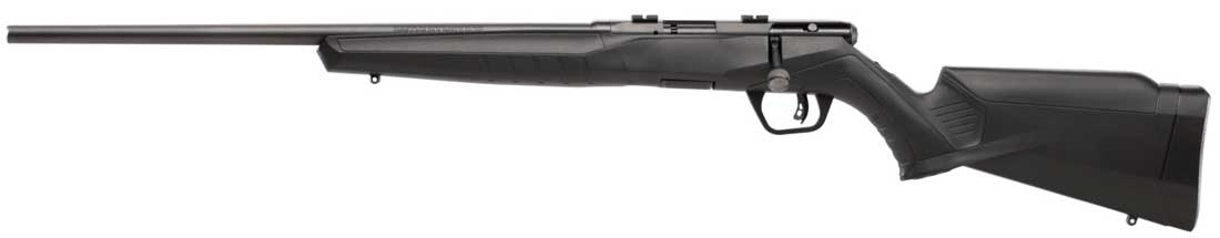Savage Arms B17 F Left Handed rifle at the SHOT Show