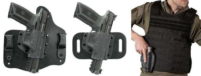 6 Shot Nylon Belt or Clip on Gun Holster for Ruger Blackhawk