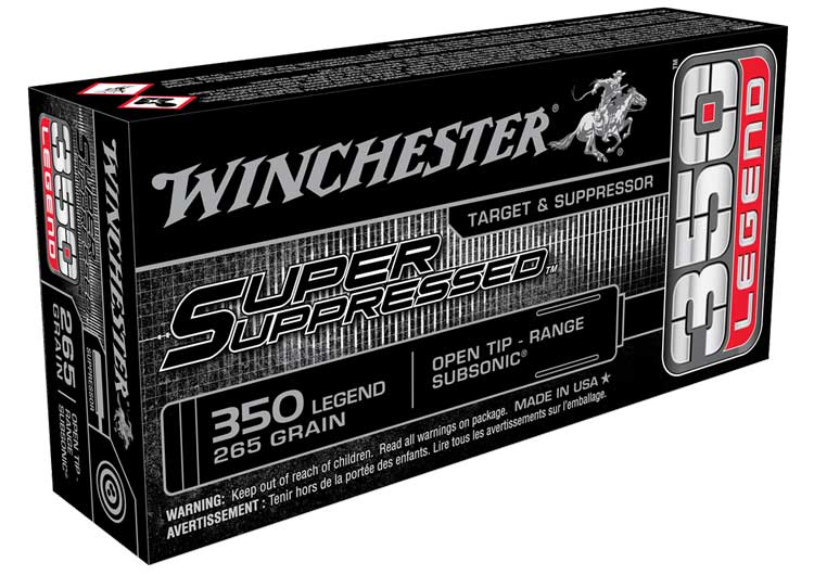Winchester SuperSupressed 350 Legend Ammunition