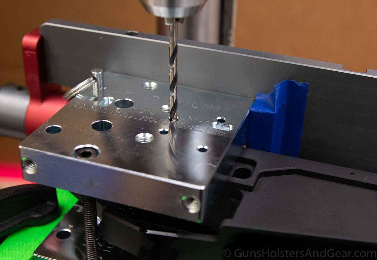 Drilling Fire Control Pins for AR15