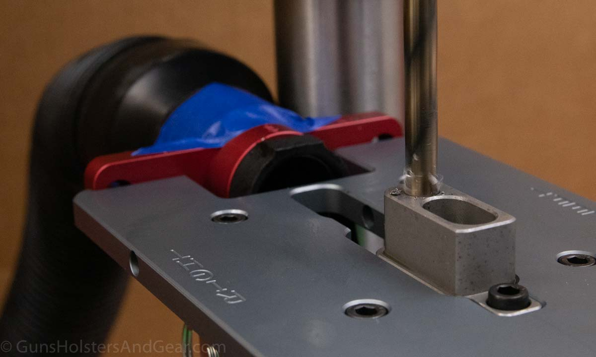 Drilling the Pilot Hole for Completing an AR lower