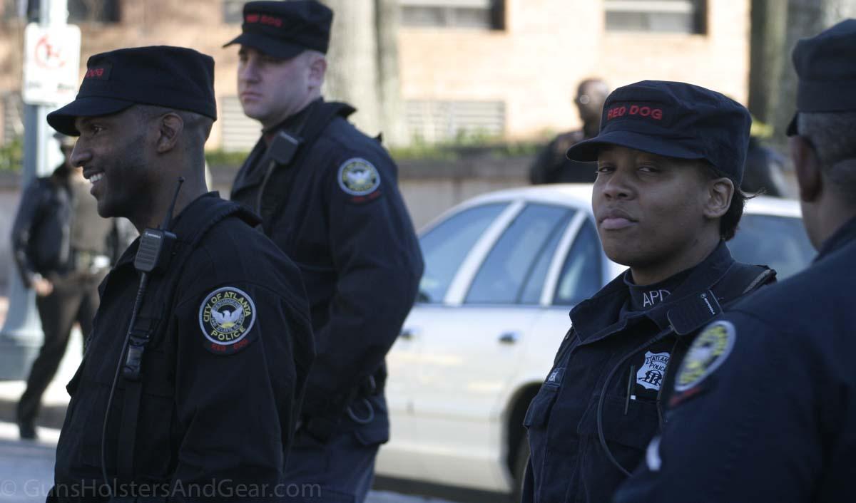 Atlanta Police Red Dog Deployed to Protest