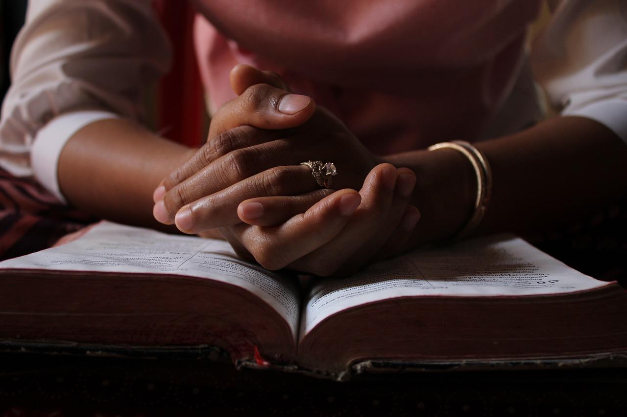 praying, bible, reading bible