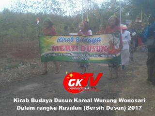 Meriahkan Even Rasulan, Ribuan Warga Dusun Kamal Wonosari Antusias Ikuti Kirab Budaya