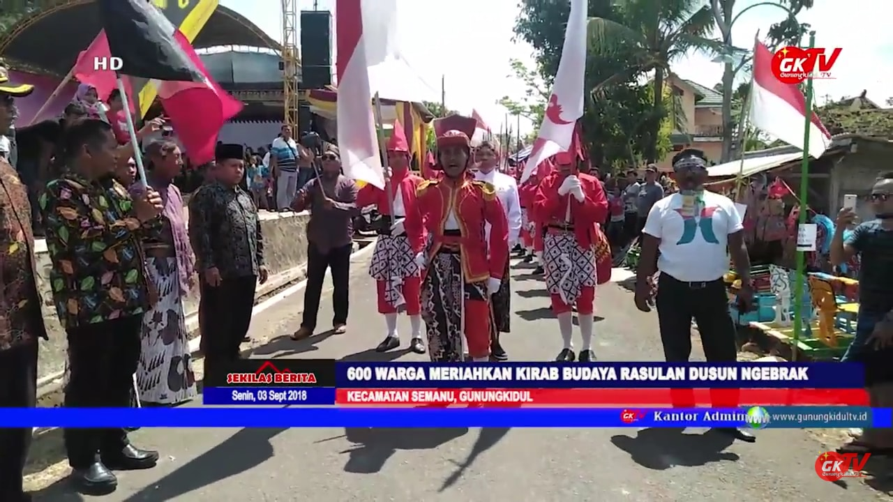 600 Warga Meriahkan Kirab Budaya Rasulan Dusun Ngebrak Seman