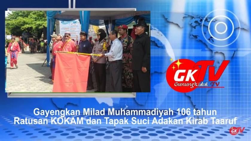 Gb. Pelepasan Kirab Taaruf 300 Anggota Tapak Suci Gunungkidul dalam rangka Meriahkan Milad Muhammadiyah 106/109 Tahun