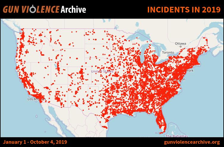 Image result for gun violence archive