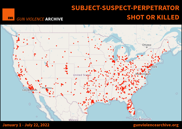 Subject-Suspect-Perpetrator Shot or Killed