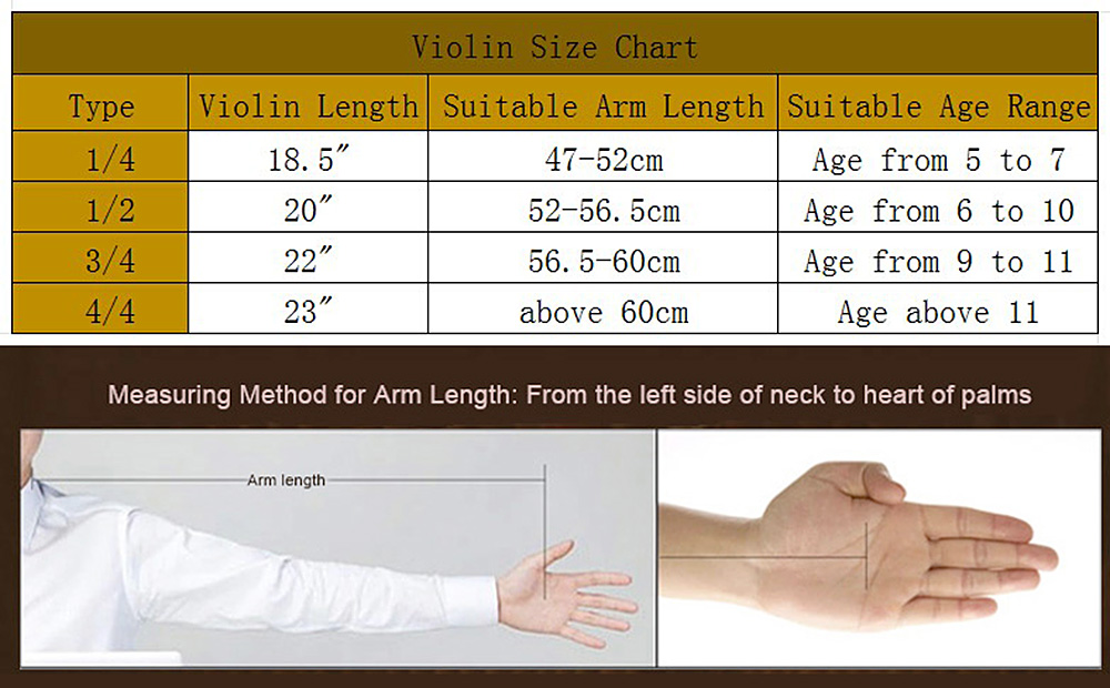Violin Code Chart Color String