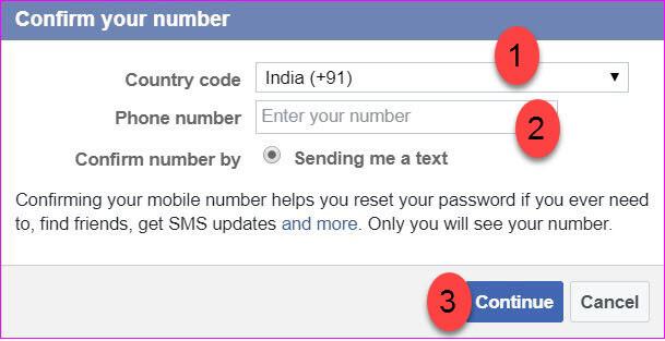 adding mobile number