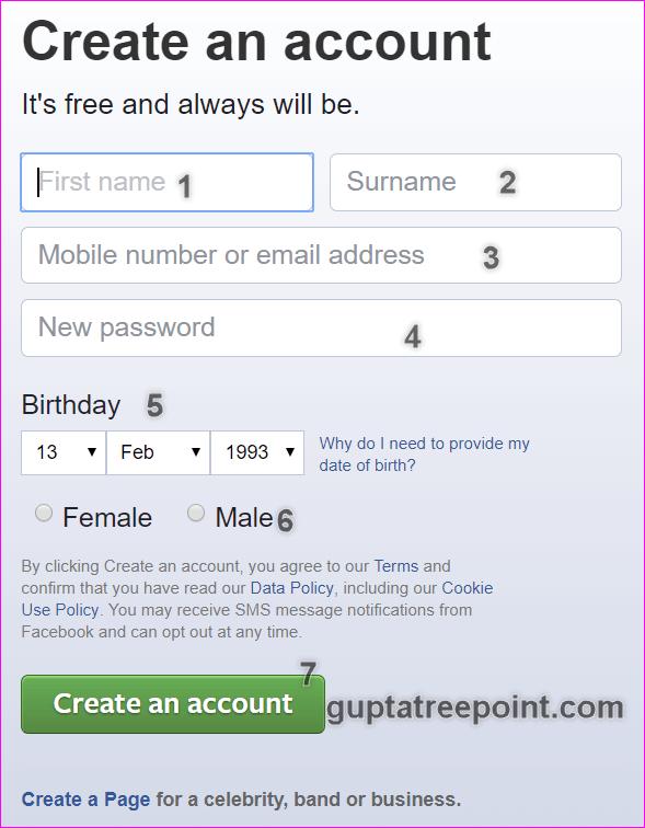 Facebook form