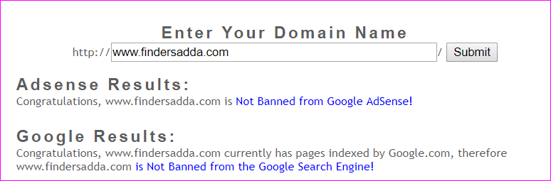 not banned website