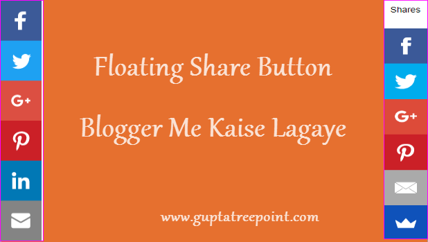 Floating share button kaise lgaye