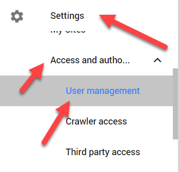 Setting access and authorization