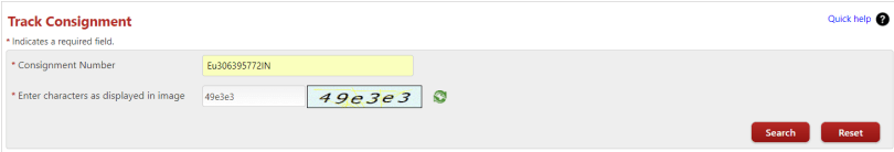 Track Speed Post Status