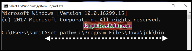 Setting Temporary Path by command prompt