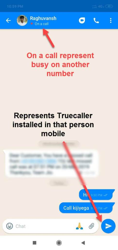 Truecaller installed in that person mobile