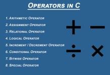 Operators in C