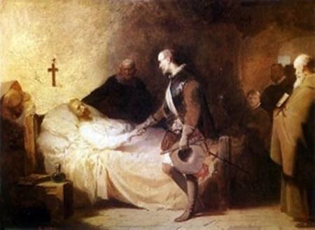 Agonía de Cervantes-  Cano de la Peña 1865