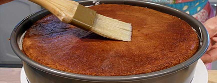 Sugar Solution on cake