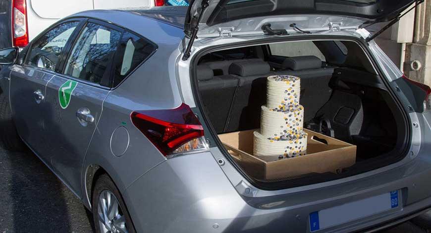 cake transported properly