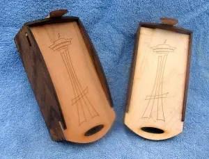 hardwood boxes with logo