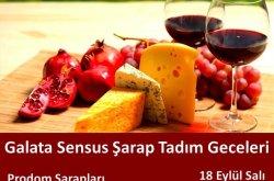 Galata Sensus'ta Prodom Şarapları Tadımı