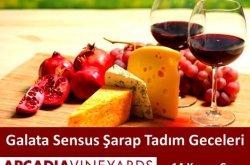 Galata Sensus'ta Arcadia şarapları tadımı