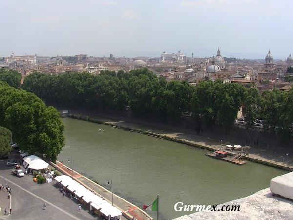 Roma Castel Sant Angelo - Melek Kalesi Tiber Nehri