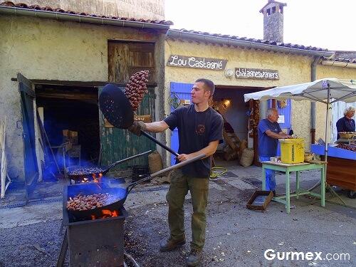 Gurmelere şenlik,fransa-kestane-festivali
