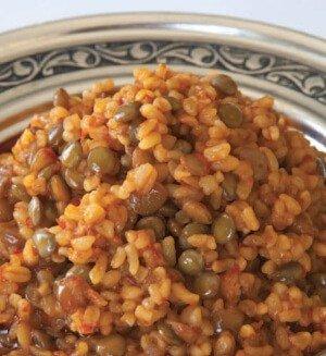 Mercimekli Pilav - Gaziantep Yemekleri, Antep Mutfağı Pilavlar