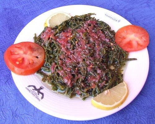 Deniz börülcesi nedir nasıl yapılır,Çanakkale yemek rehberi, gurme yeme içme blog